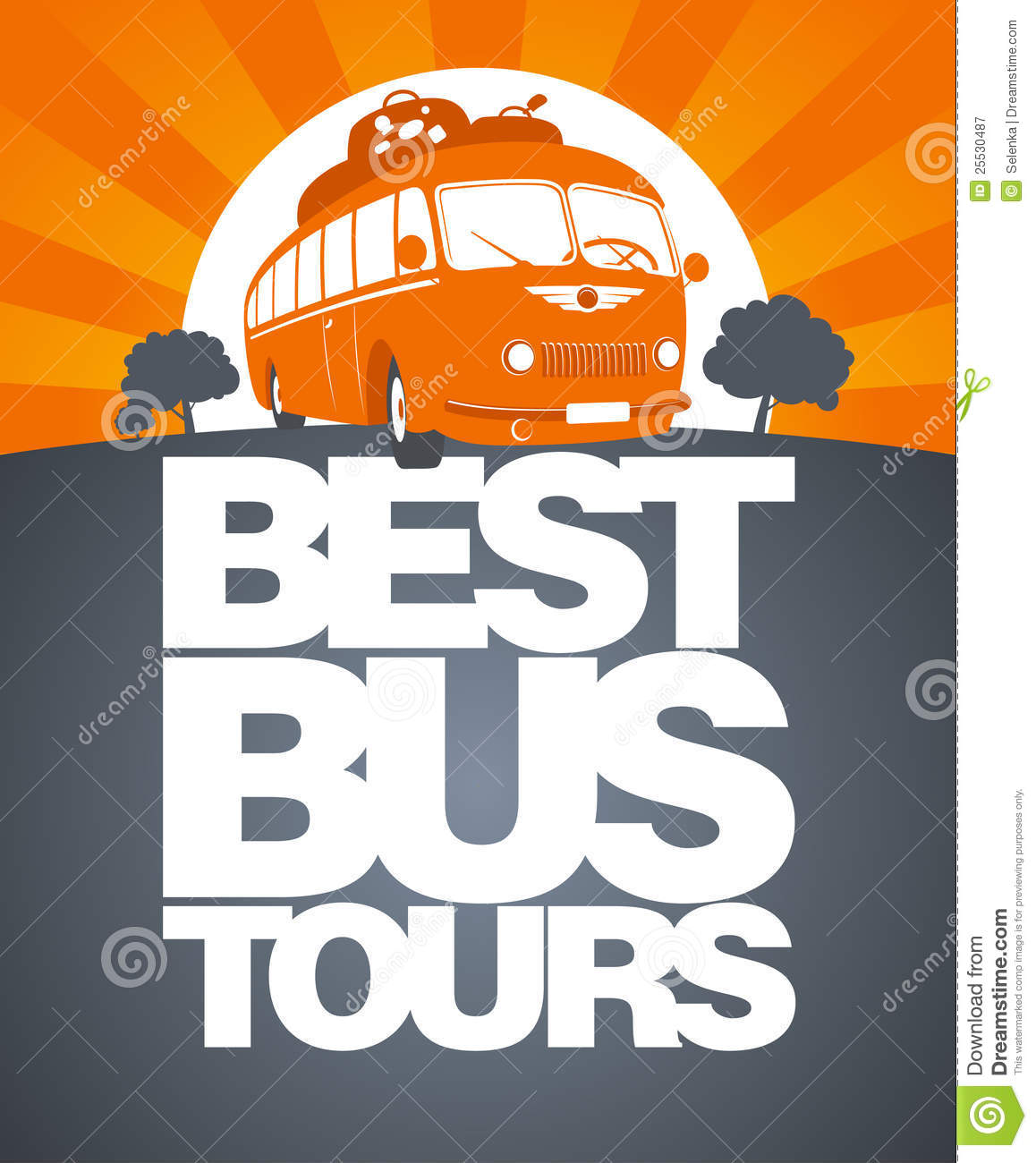best bus tour design template royalty free stock