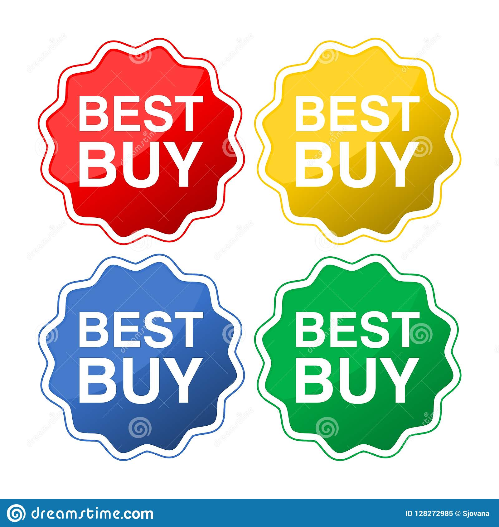 ef57bbabb2d Best buy flat style badges stock vector. Illustration of cost ...