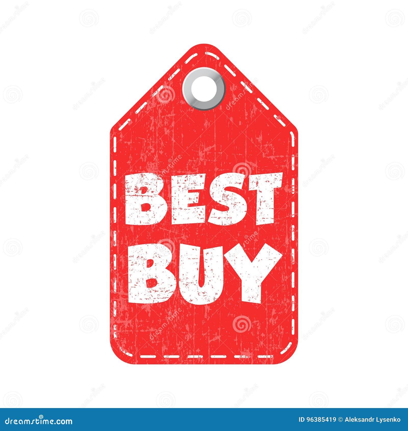 Best Buy Hang Tag  Vector Illustration Stock Vector