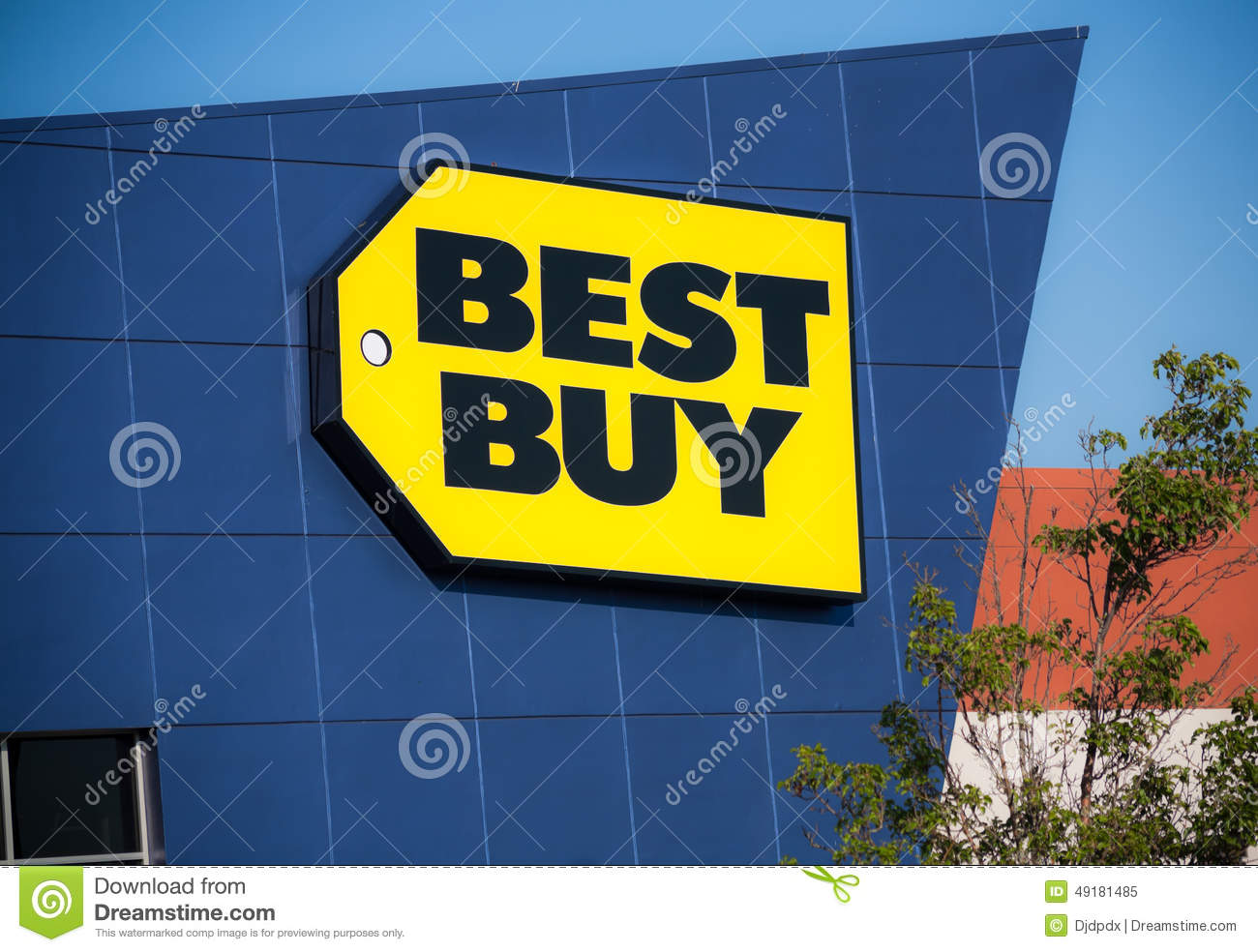 best buy store sign editorial photo 78114671. Black Bedroom Furniture Sets. Home Design Ideas