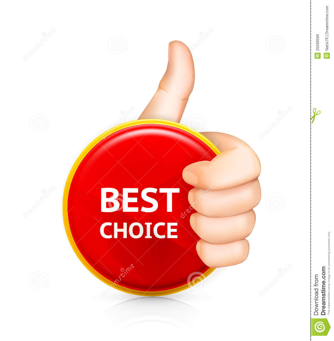Best choice, сomputer illustration on white background.