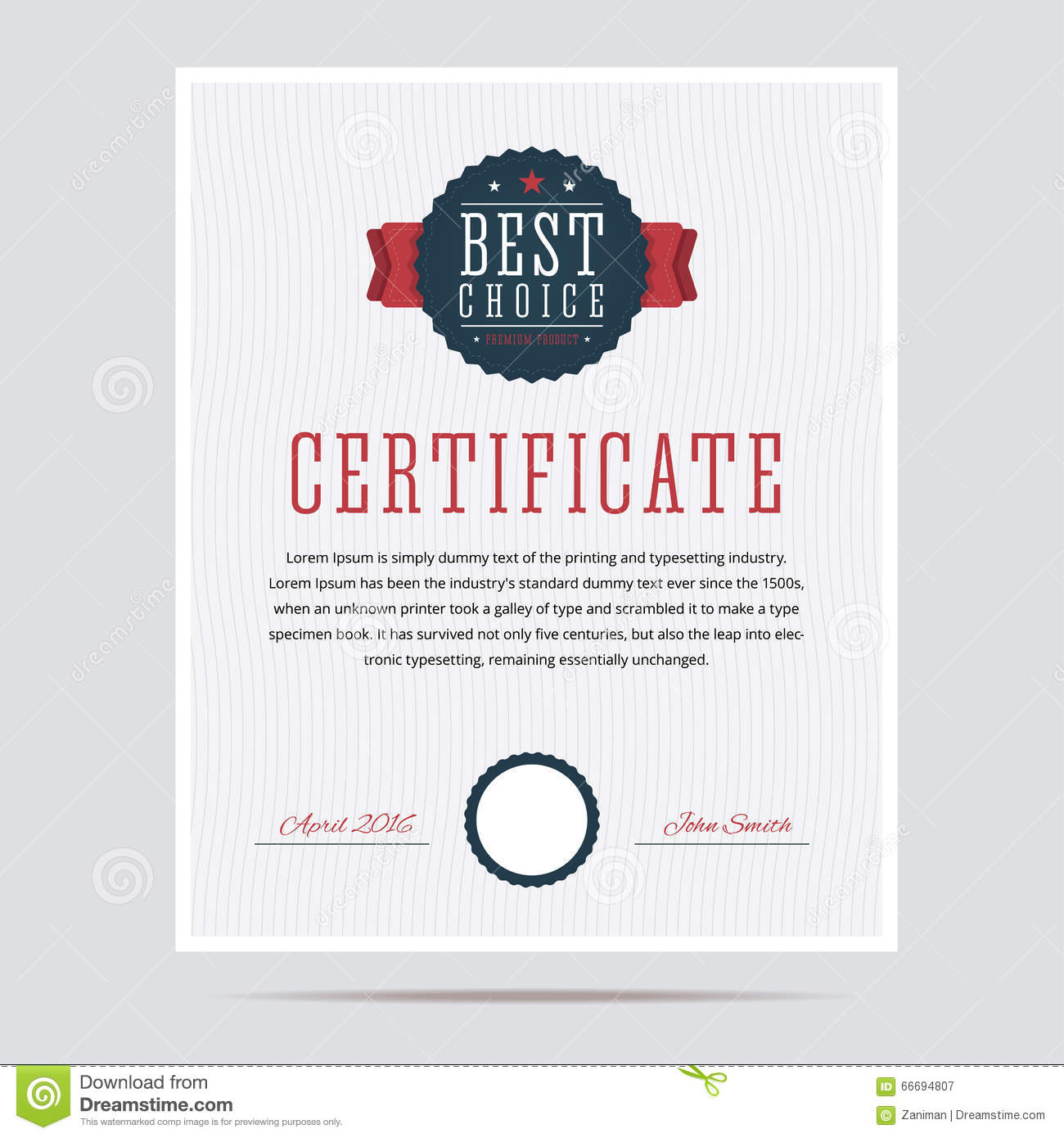 Best Choice Certificate. Stock Vector - Image: 66694807
