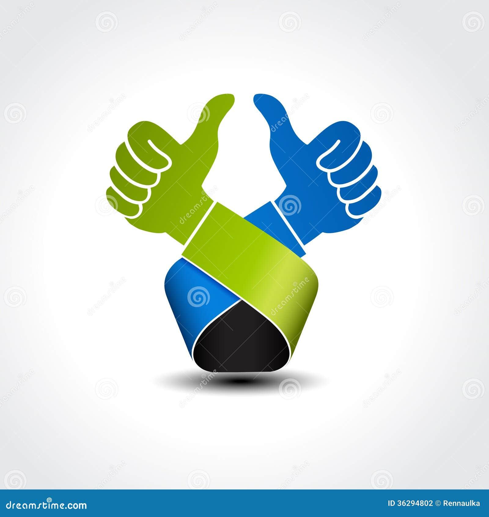 Best Choice Symbol Gesture Hand Like Icon Okay Stock Vector