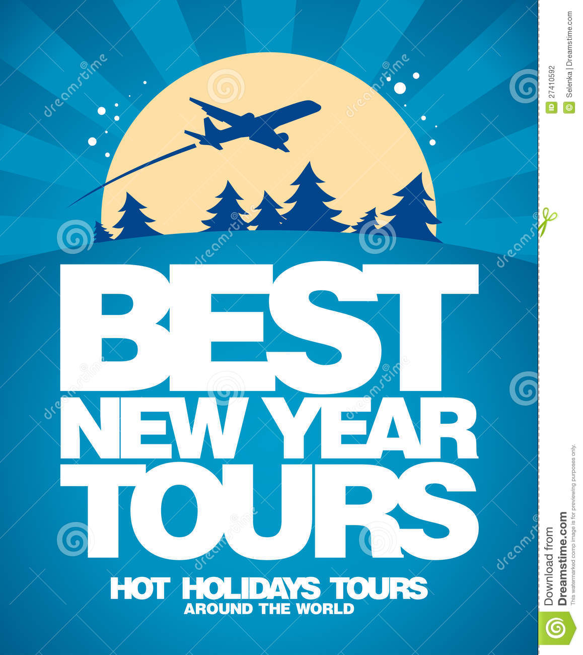 best christmas tours design template stock photography