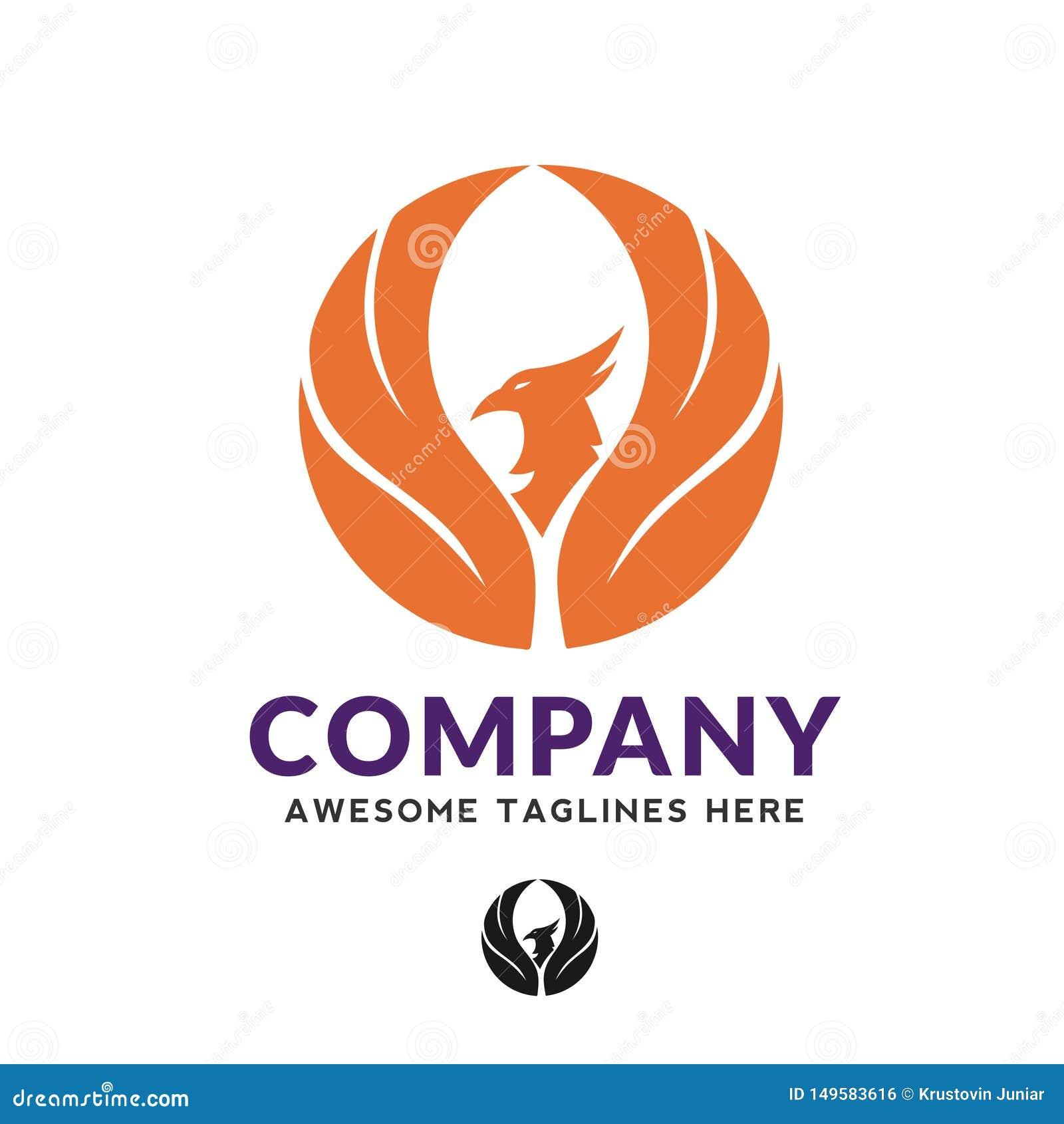 Pleasing Best Circle Phoenix Bird Logo Design Stock Vector Interior Design Ideas Inesswwsoteloinfo