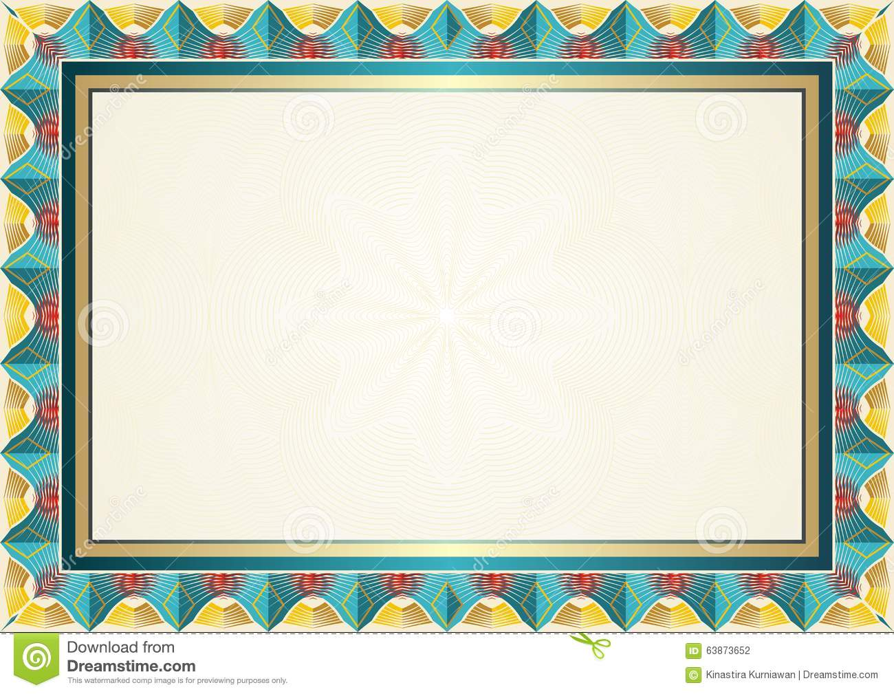 stock photography  best colorful certificate background