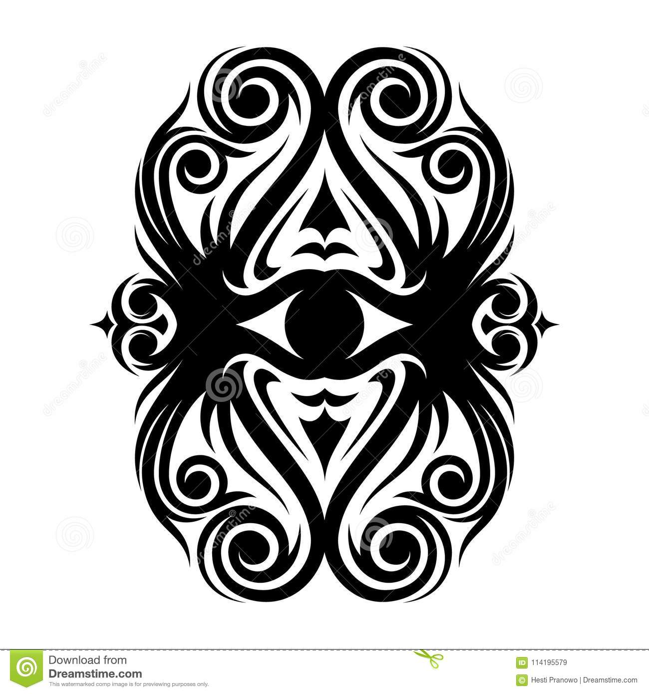 Download Best Creative Vintage Style Floral Eyes With Ethnic Tribal Ornaments Stock Vector