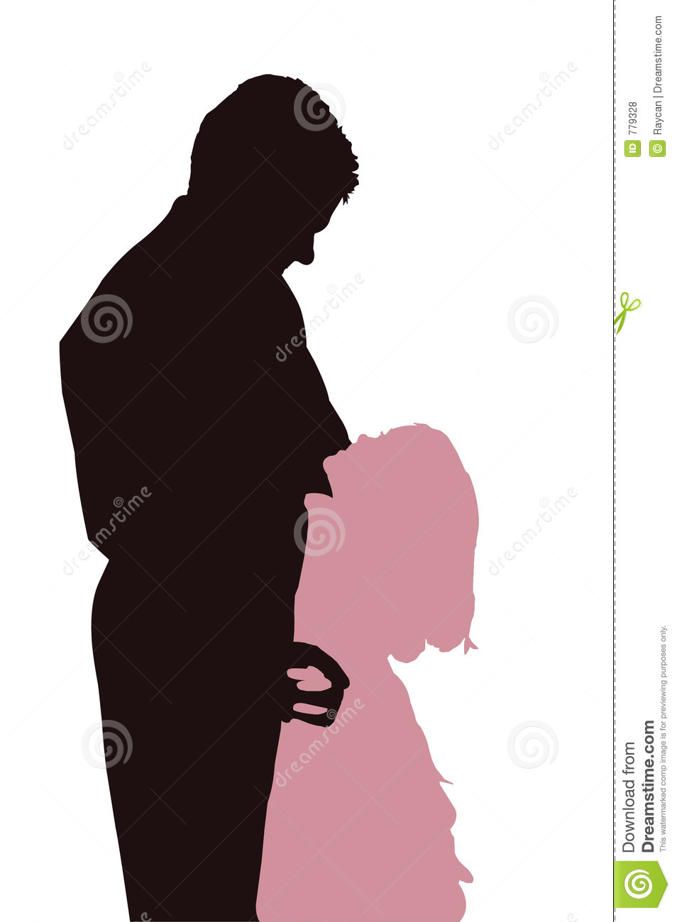 Best Dad Royalty Free ... Eiffel Tower Silhouette Pink