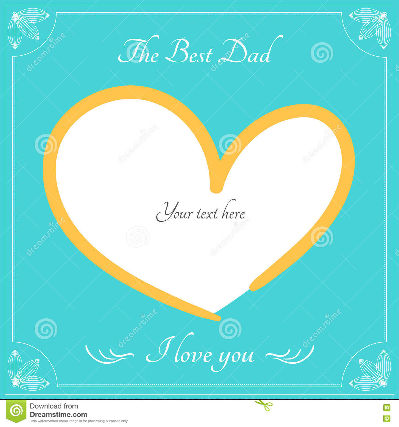 The Best Dad Card Fro Happy Fathers Day Greeting Vector Backgro