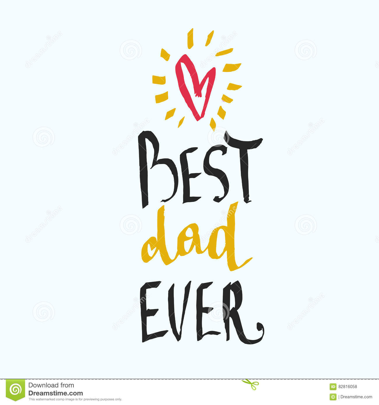 best dad ever unique hand lettering design for father s day stock