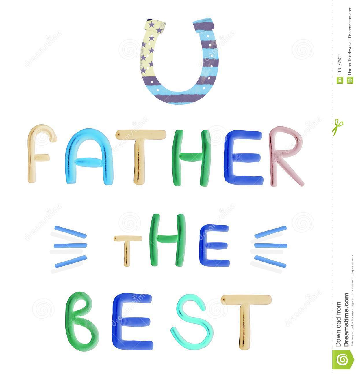 best dad happy fathers day white background plasticine text