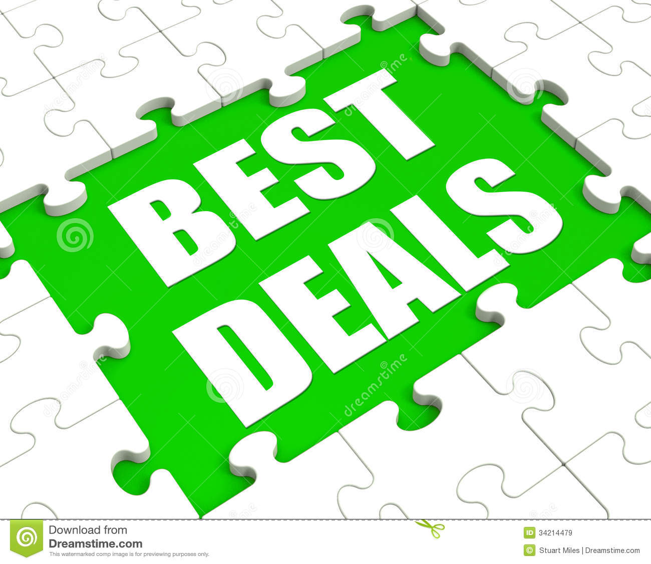 Best Deals Puzzle Shows Great Deal Promotion Or Bargain Royalty Free ...
