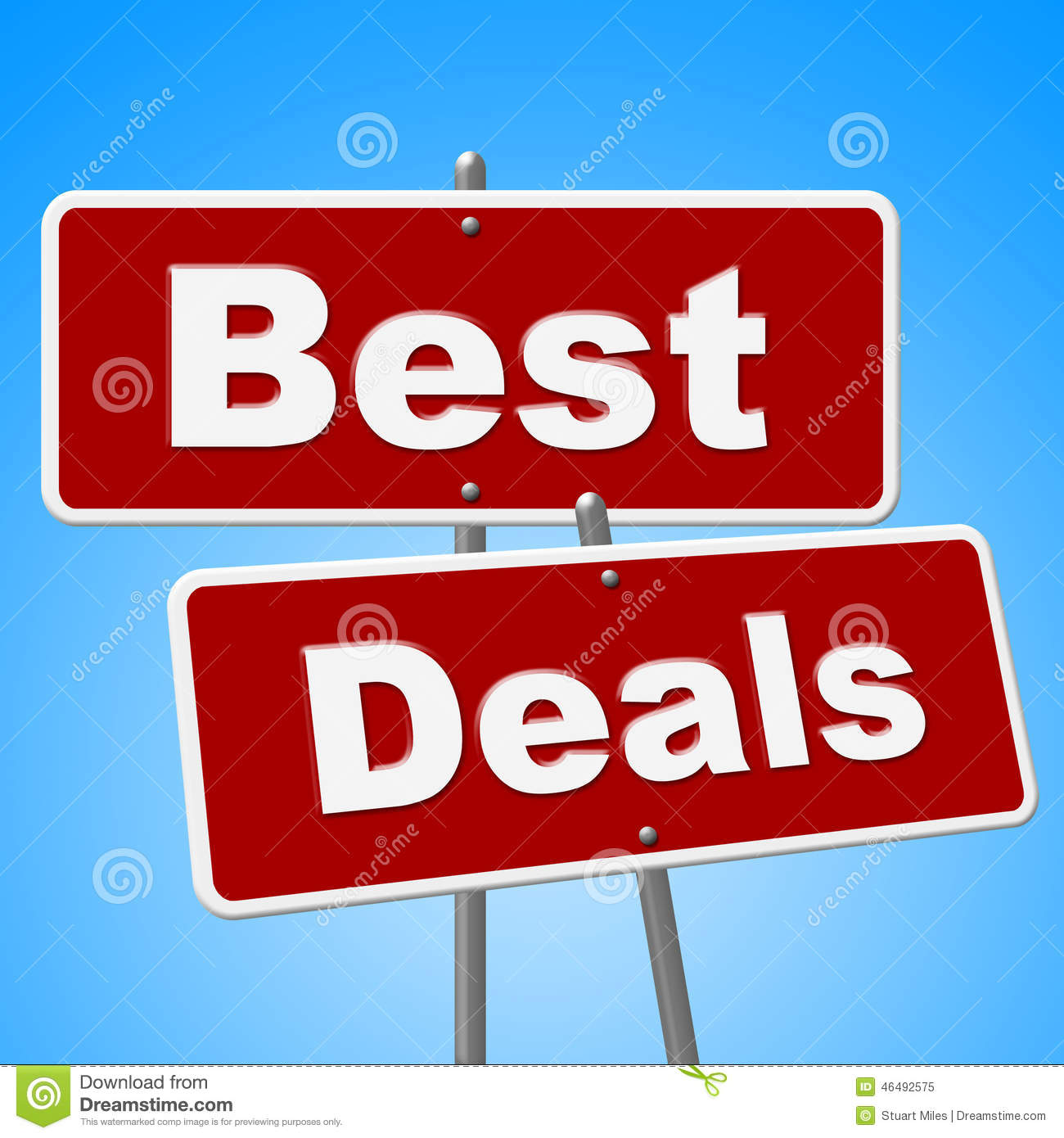 Sales Deal: Best Deals Signs Shows Cheap Promotion And Sales Stock