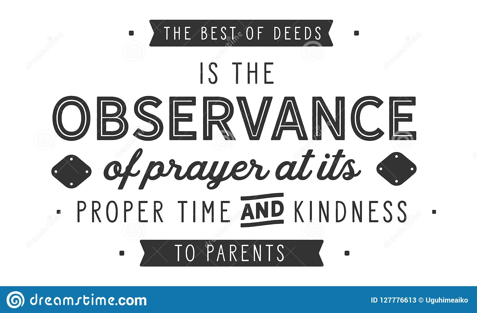 The Best Of Deeds Is The Observance Of Prayer At Its Proper