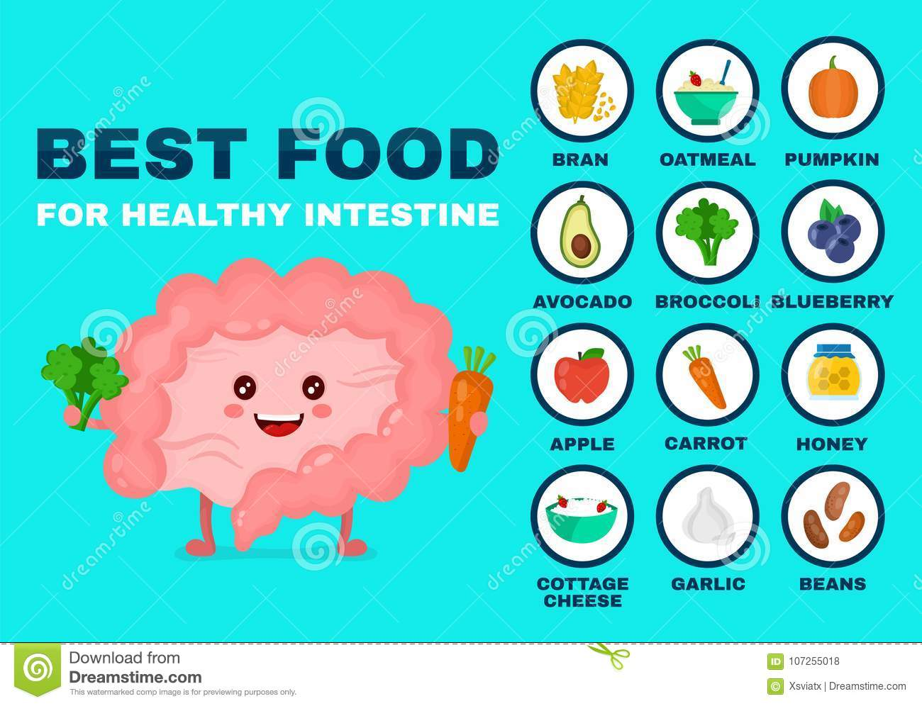 Best food for strong intestine