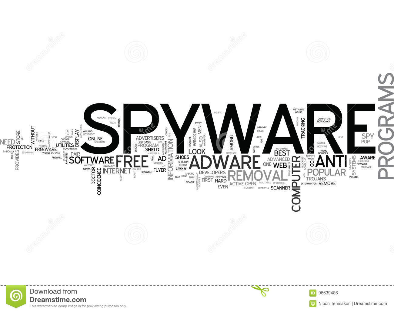 Best Free Spyware Adware Removal Word Cloud Stock Illustration Illustration Of Remove Background 96639486