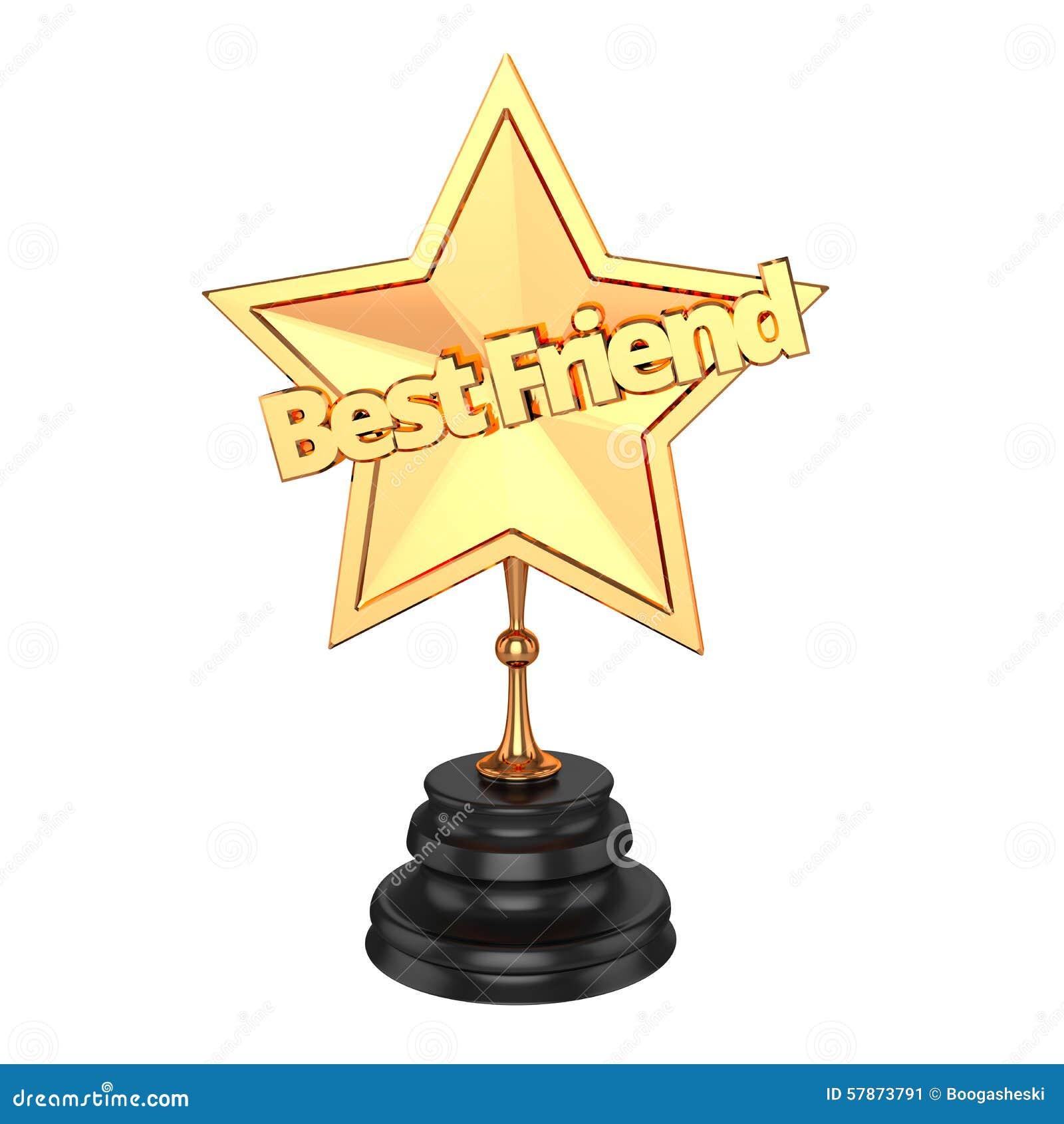 Best Friend Award / Trophy Stock Illustration - Image: 57873791