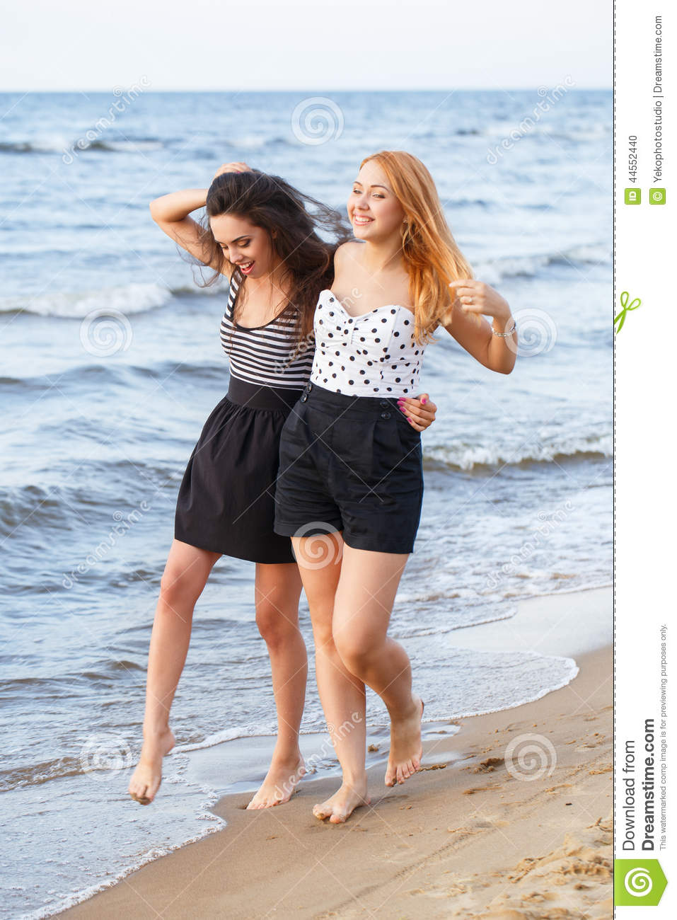 Best Friends On The Beach Stock Photo - Image: 44552440