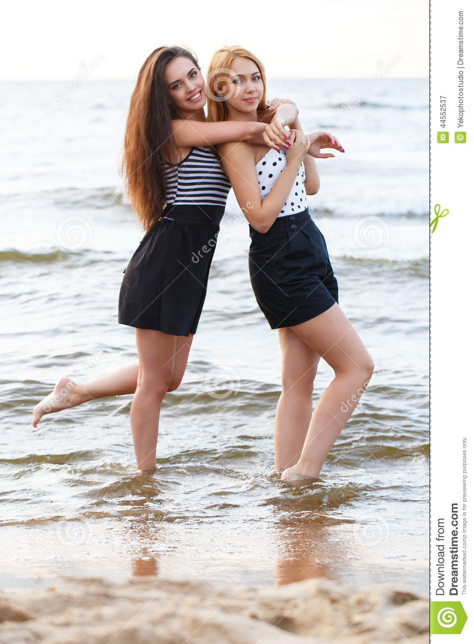 Best friends on the beach stock image image of breeze for Best women pictures