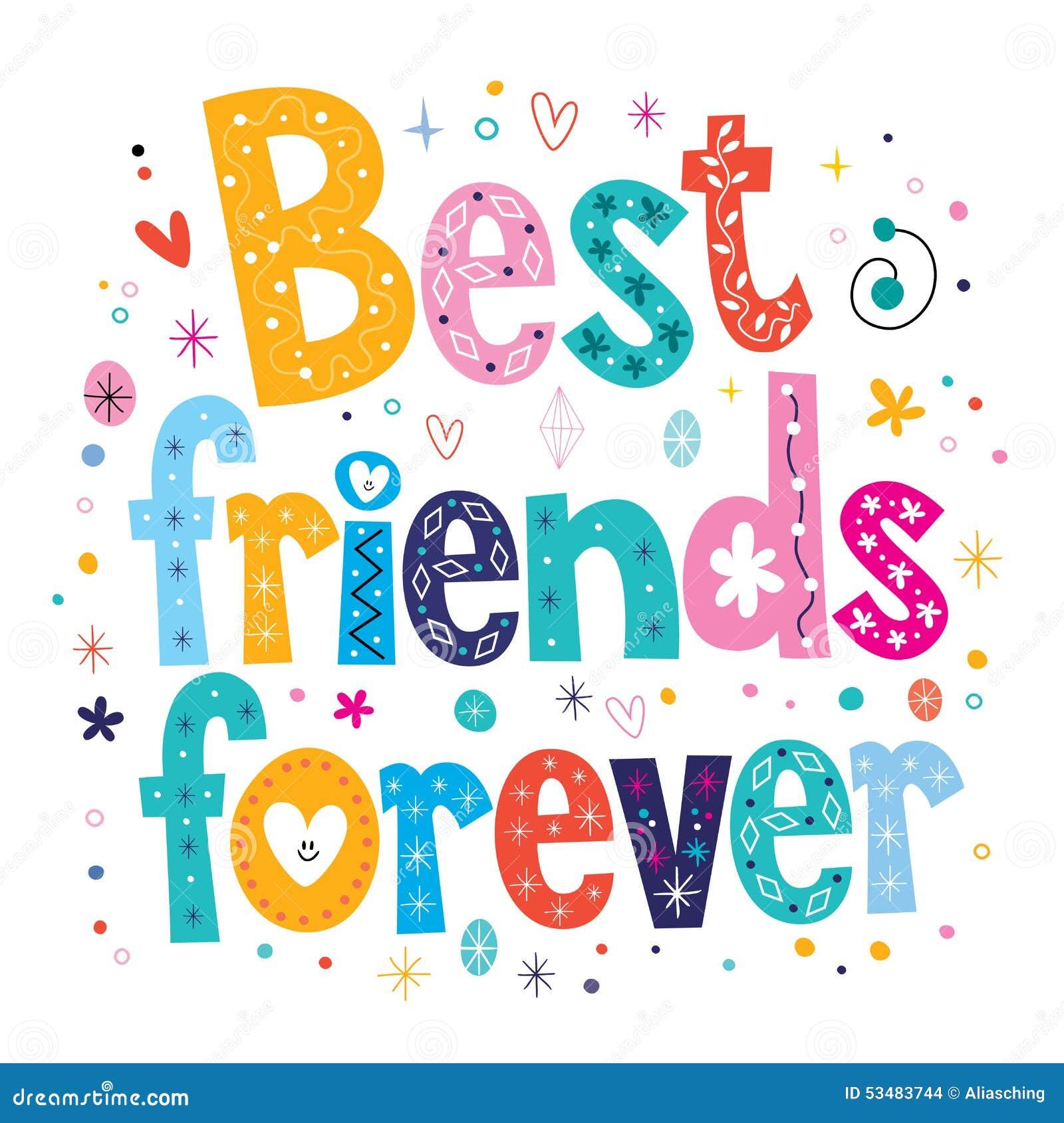 Best Friends Forever Stock Vector Illustration Of Banner 53483744