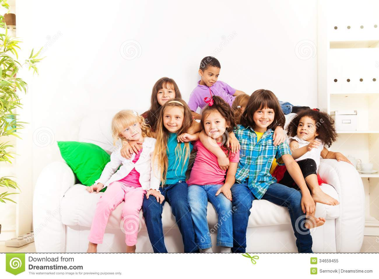 Best Friends Forever Stock Image Image Of Couch Kids 34659455