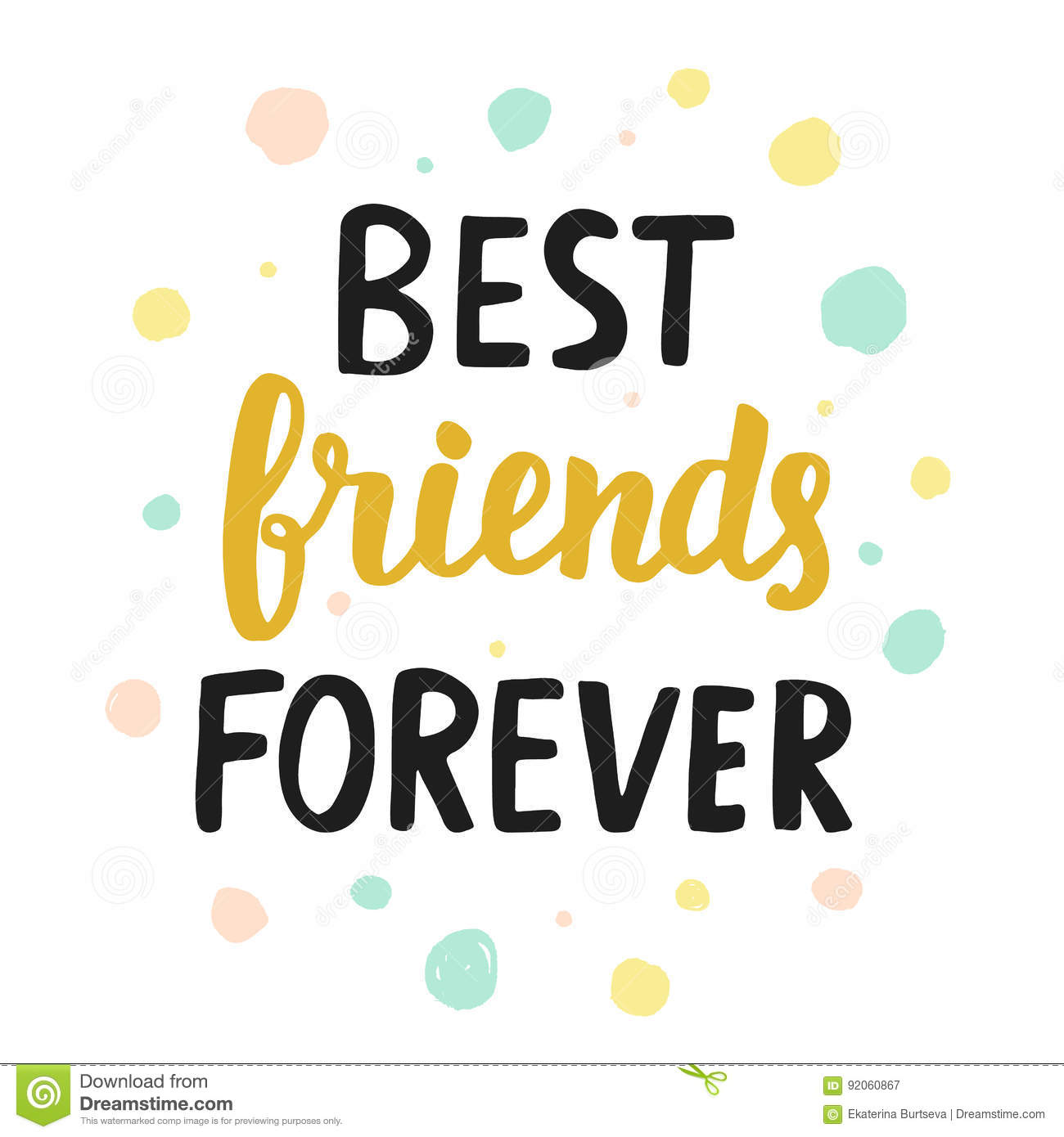 Best Friends Forever Stock Vector Illustration Of Clothes 92060867