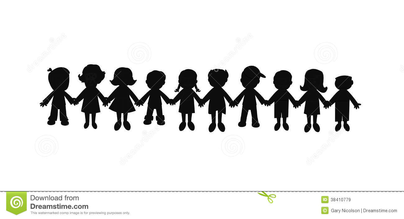 Vector Drawing Lines Unity : Best friends forever silhouette stock vector