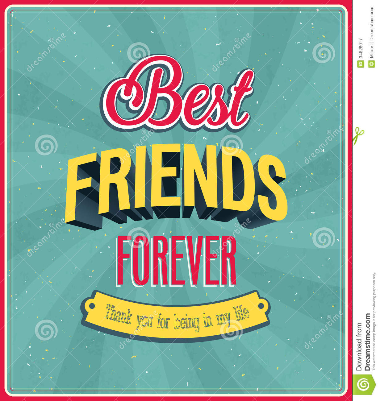 Best Friends Forever Typographic Design