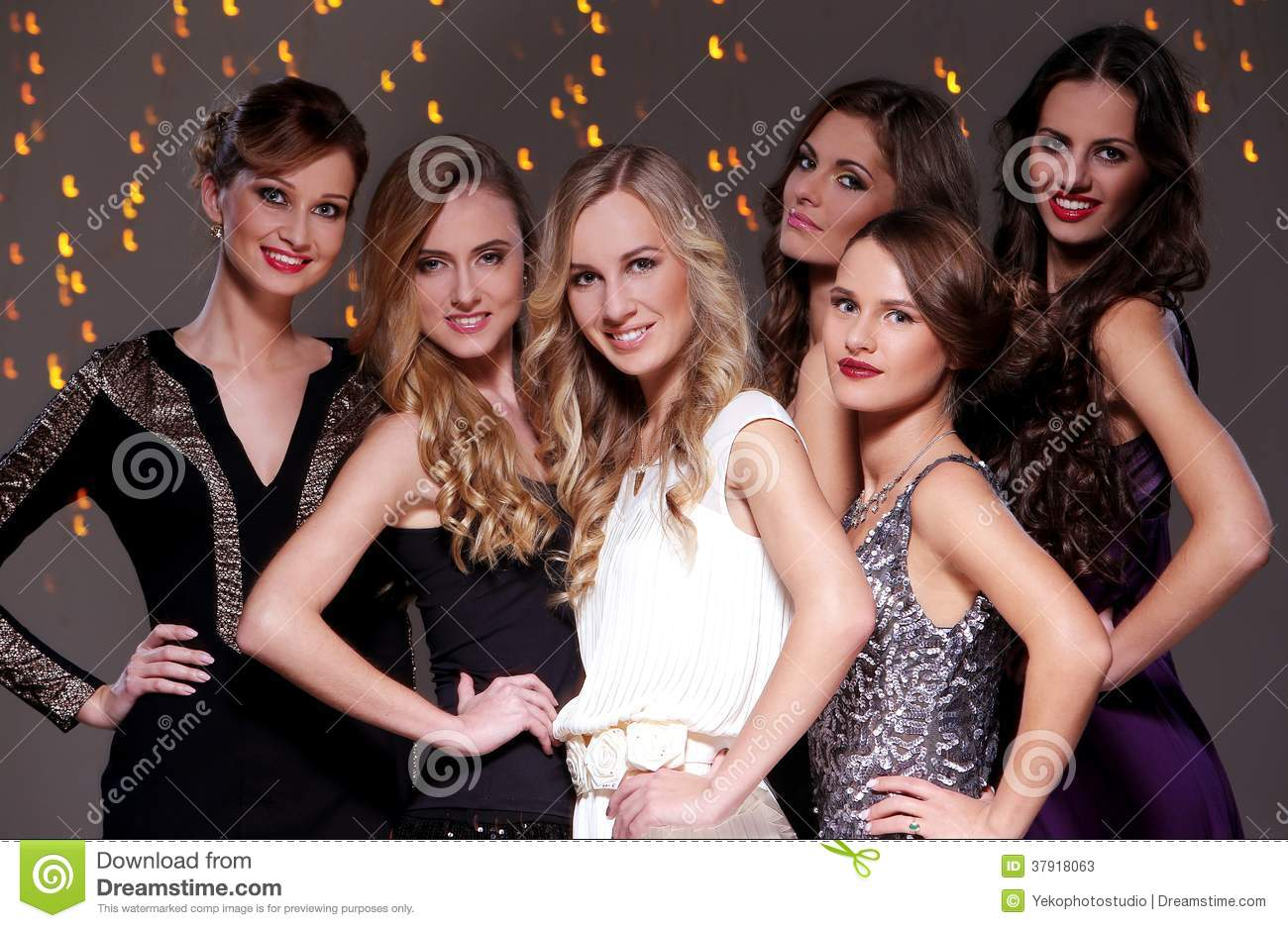 Best Friends Having A New Year Party Stock Image - Image of blonde ...