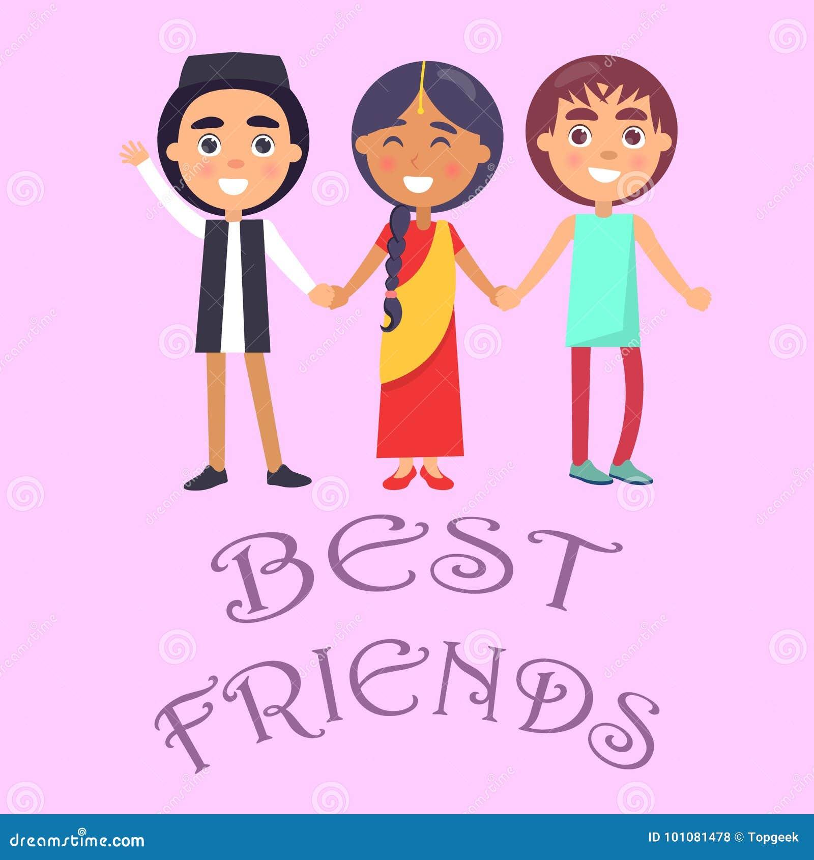 Download Best Friends International Holiday For Children Poster Stock Vector