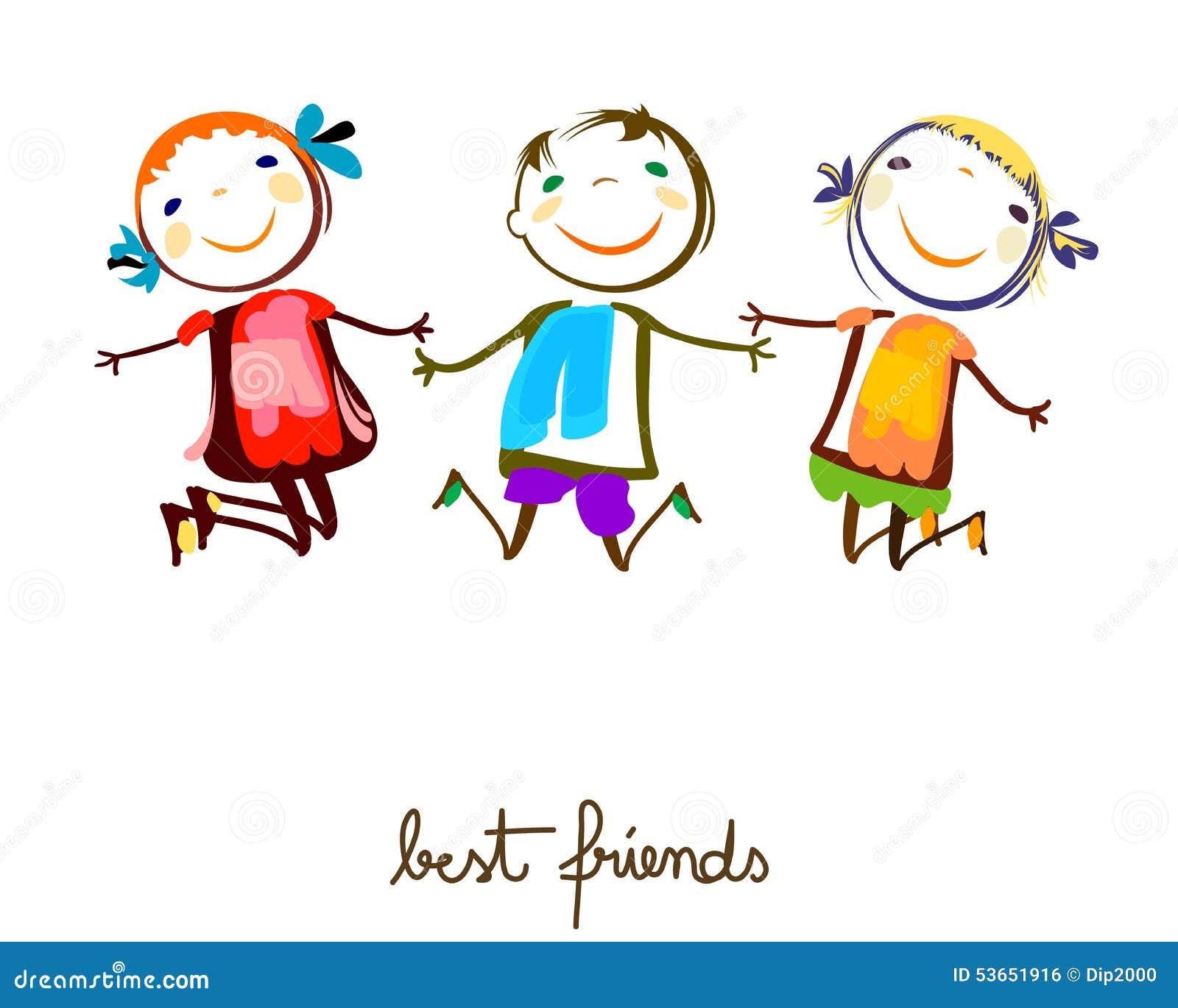 Best Friends Stock Vector. Illustration Of Friends, Happy