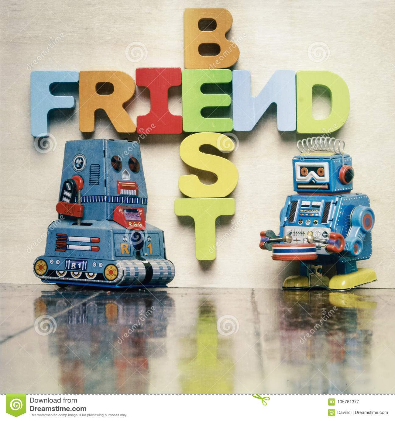 Best Friends Word With Wooden Letters Stock Image  Image Of