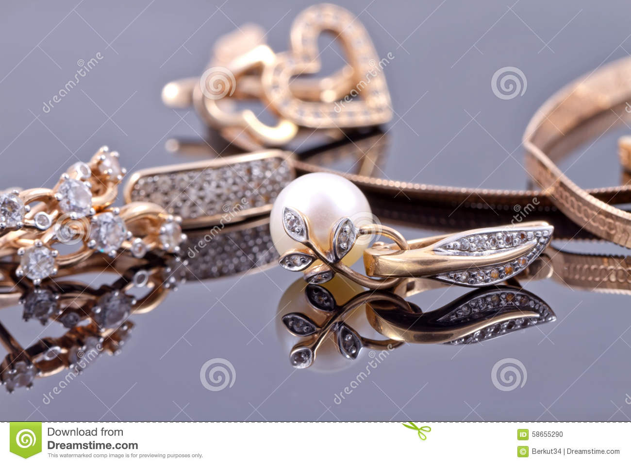 Best Gift For Girl - Gold Jewelry Stock Photo - Image: 58655290