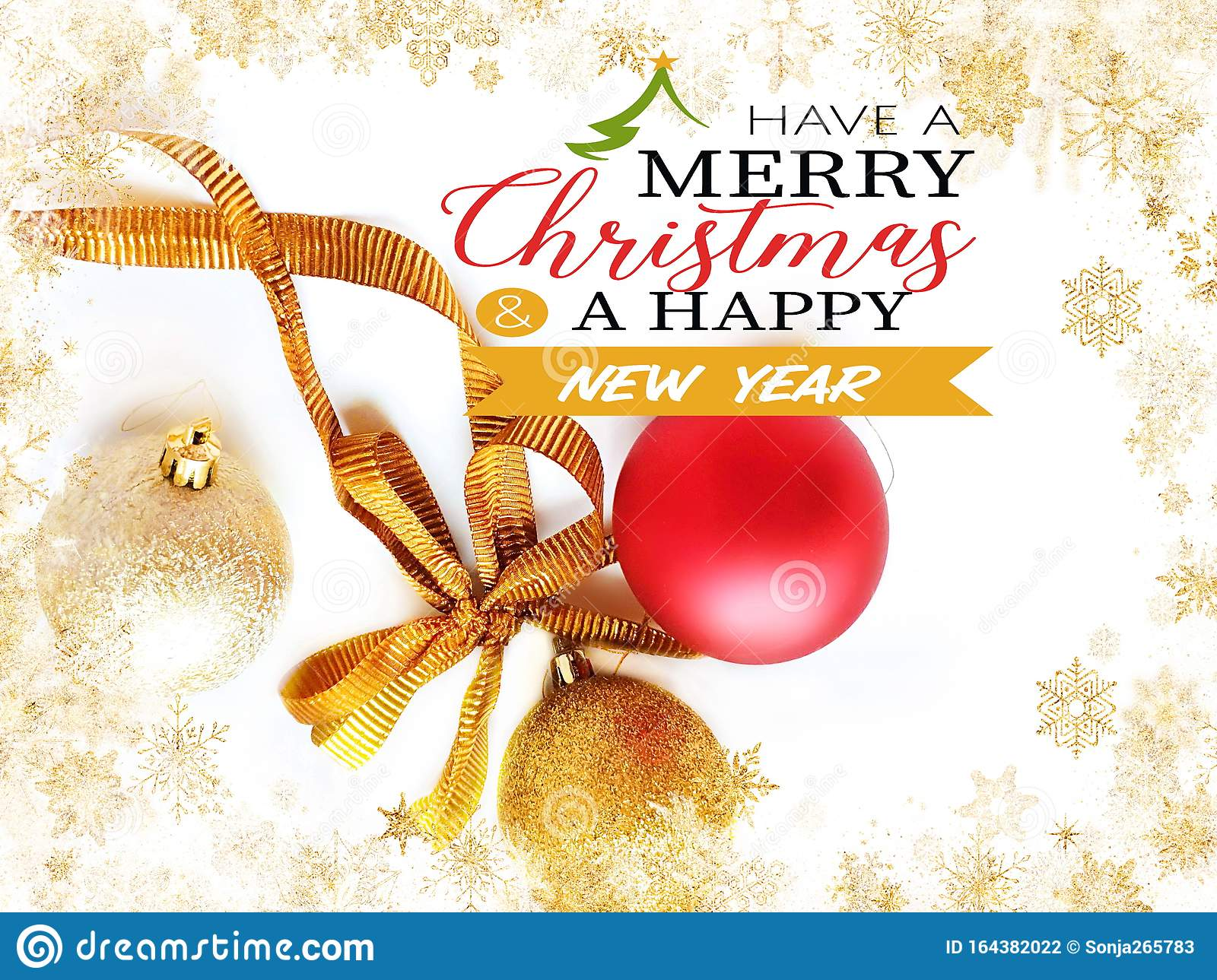 merry christmas and happy new year wishes greetings card red silver and gold ball on white background with best quotes text stock photo image of abstract design 164382022 dreamstime com