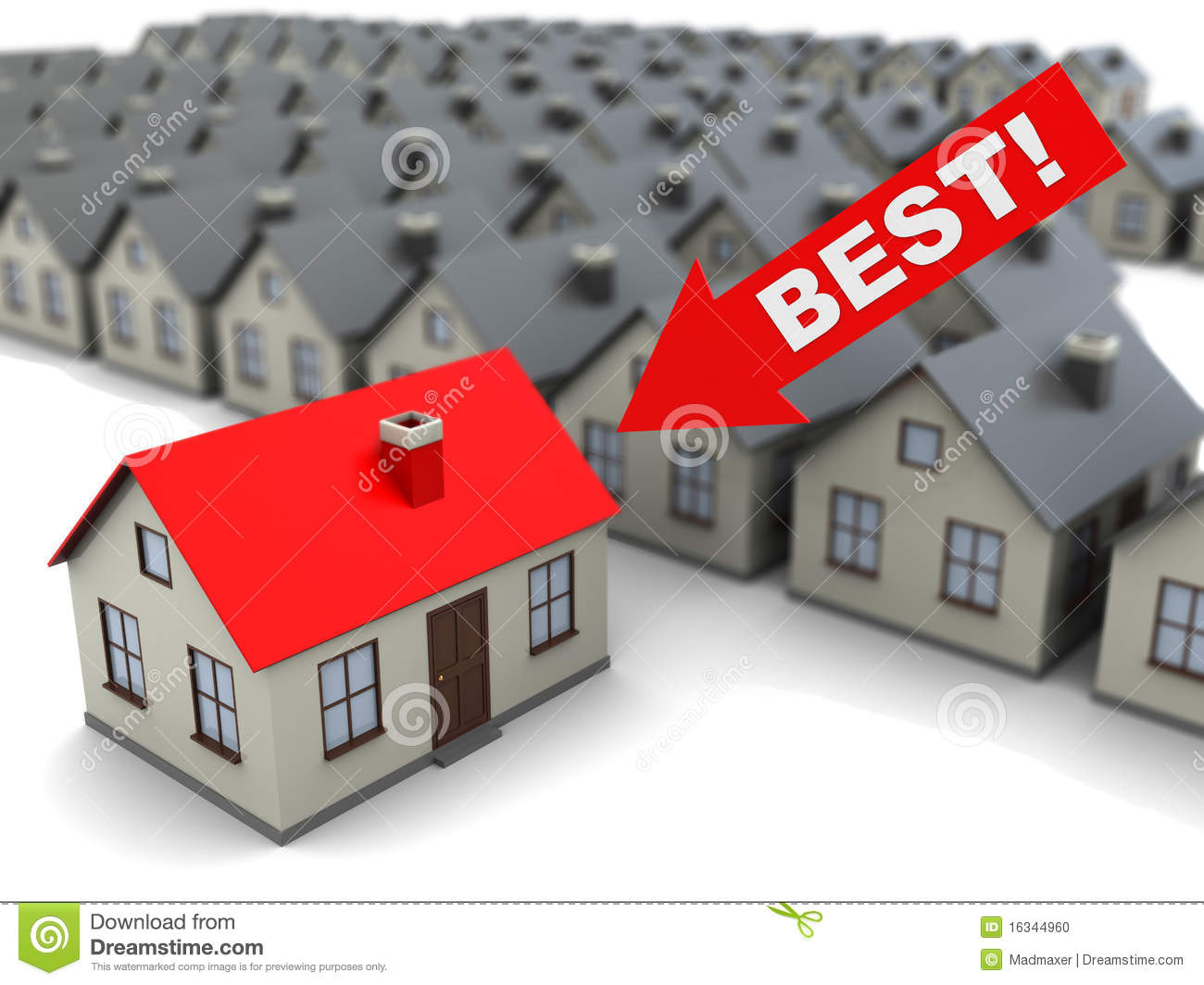 Download Best house stock illustration. Illustration of generated - 16344960