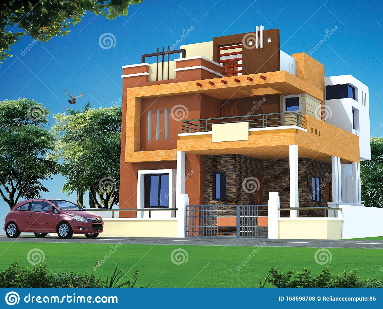 Best House Design Images Best House Images Latest House Images Design Stock Illustration Illustration Of Dream Compact 168598708