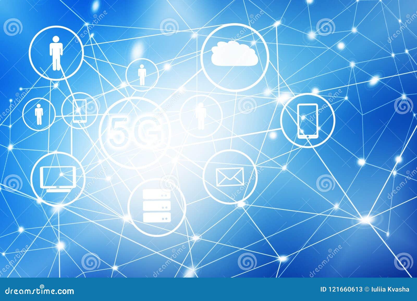 5G K Internet Mobile Wireless Concept  Best Internet Concept Of