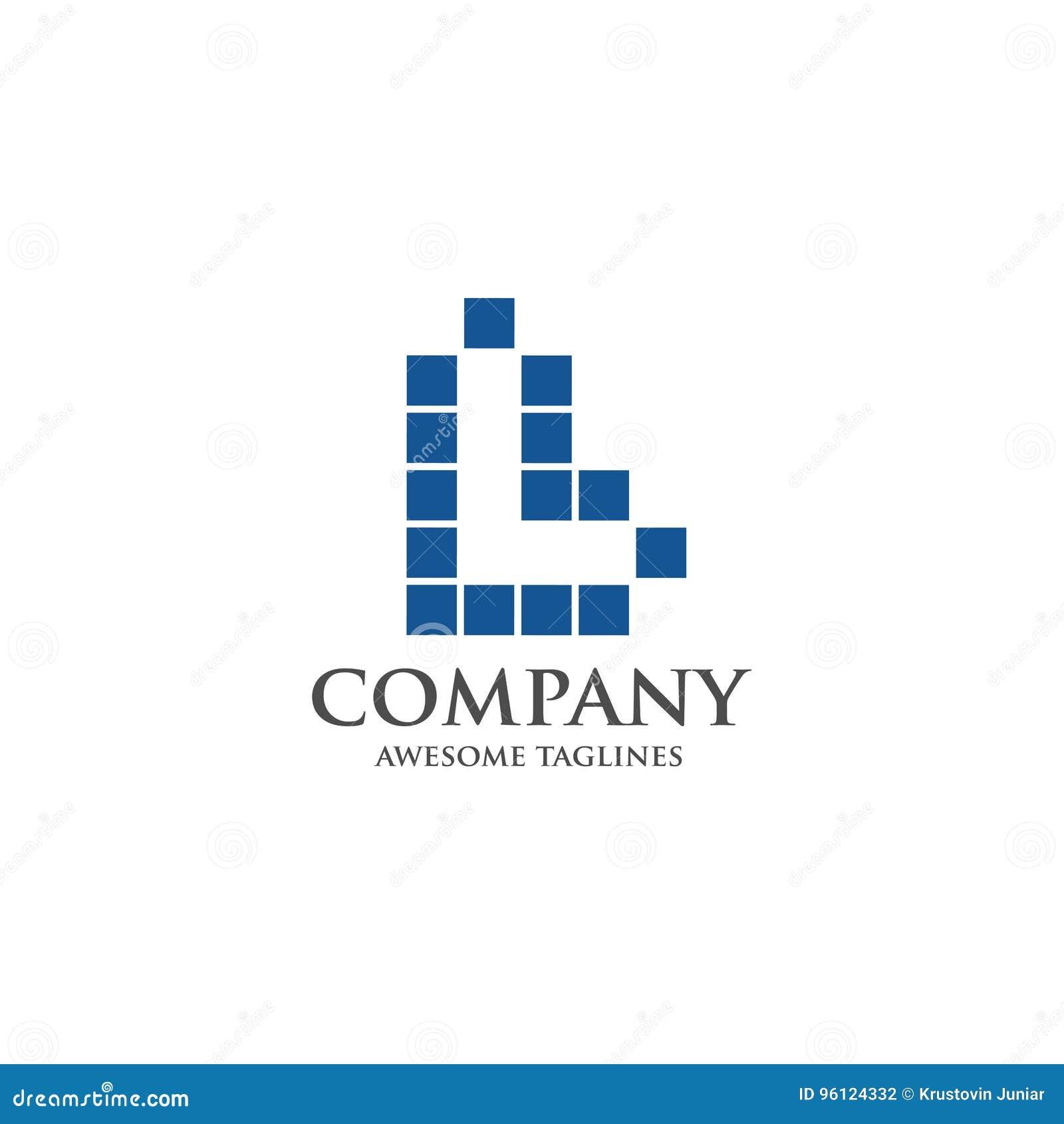 best letter l logo square concept