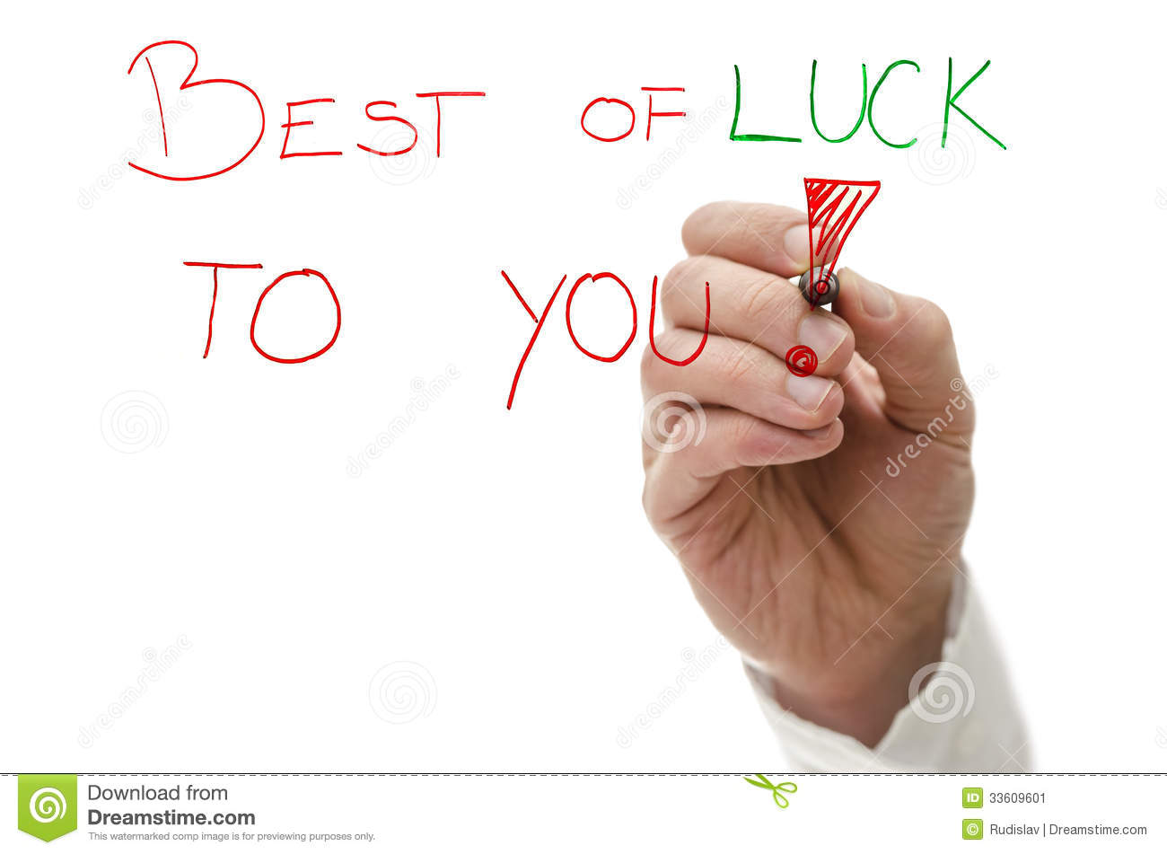 best of luck to you
