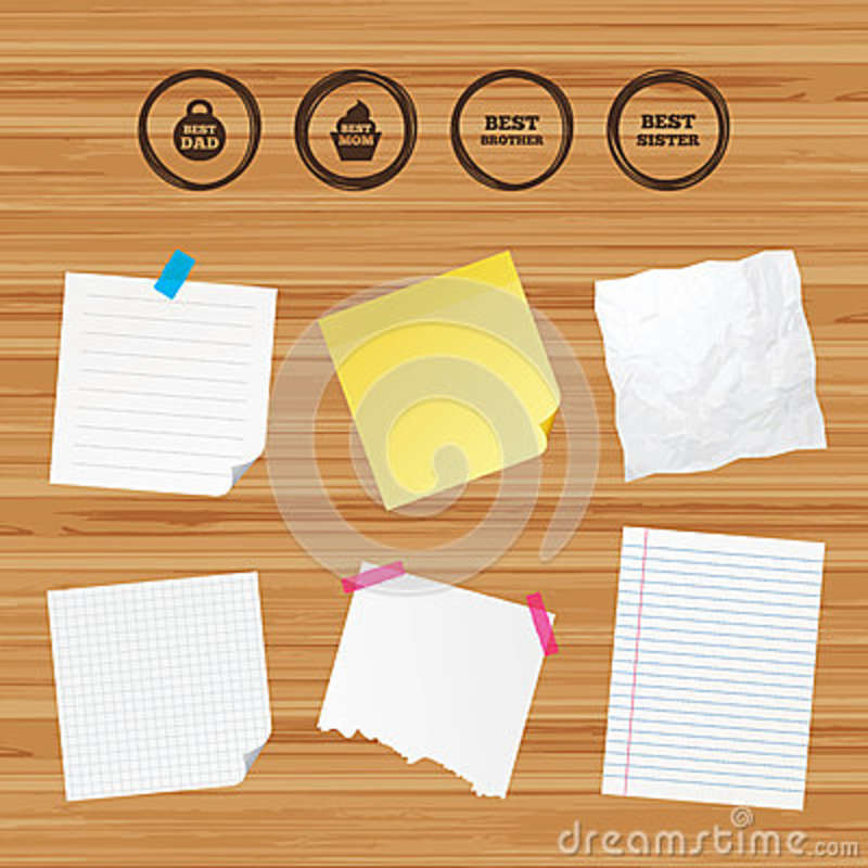 Best Mom And Dad Brother Sister Icons Stock Vector Illustration
