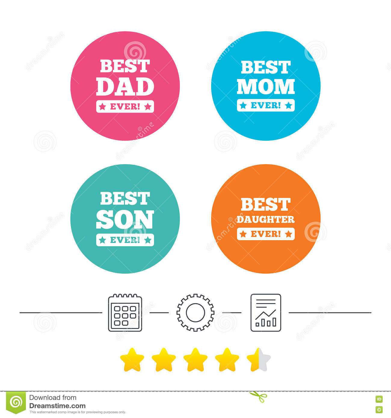Best mom and dad son daughter icons stock vector illustration royalty free vector biocorpaavc