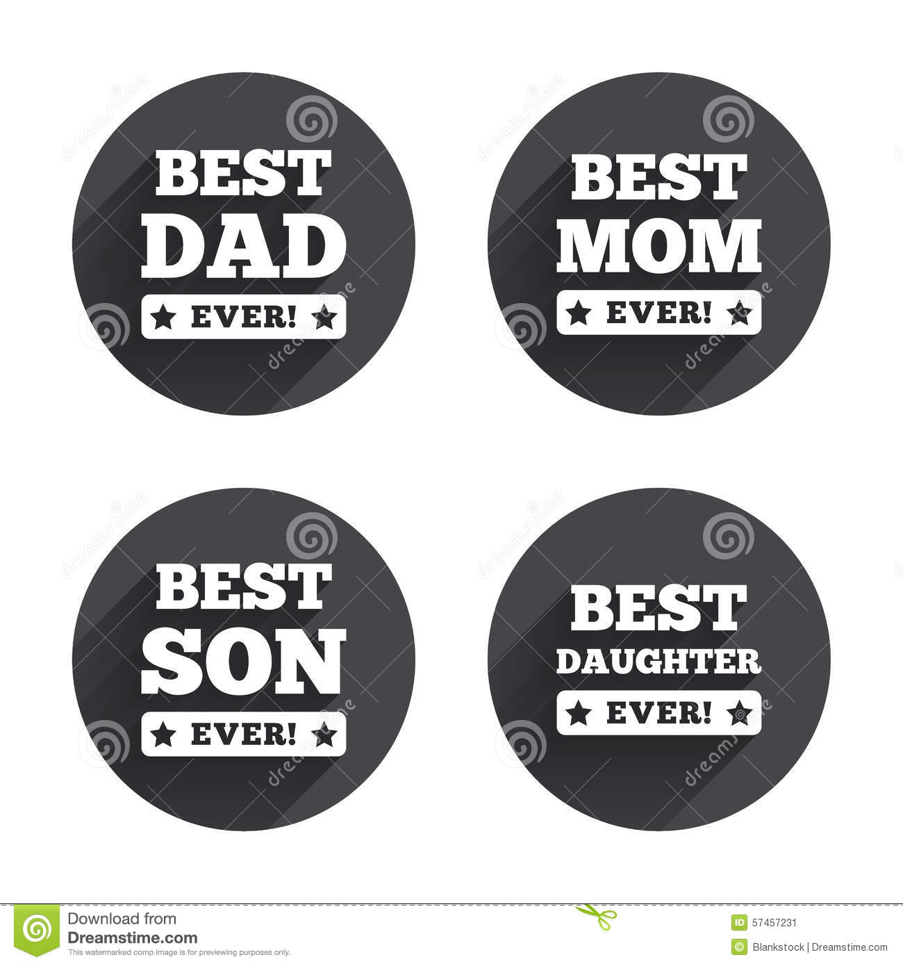 Best Mom And Dad Son Daughter Icons Stock Vector Illustration Of