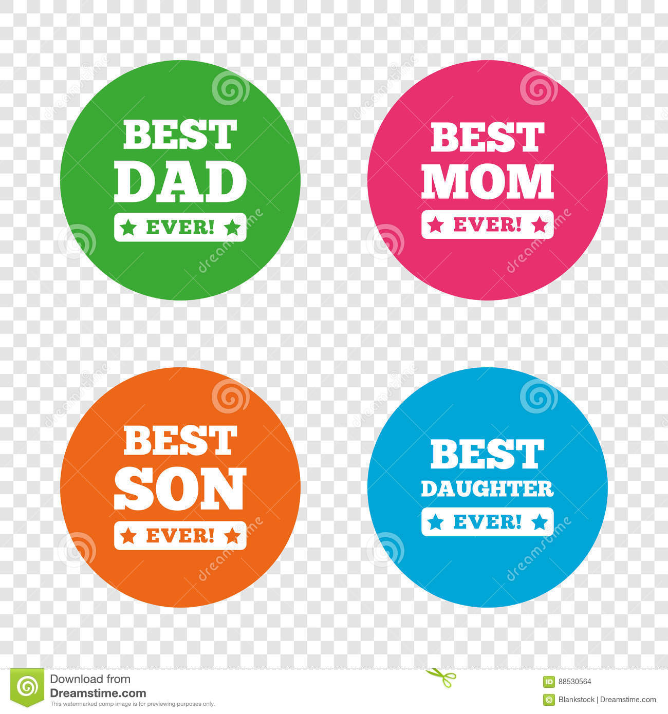 Best mom and dad son daughter icons stock vector illustration best mom and dad son daughter icons biocorpaavc