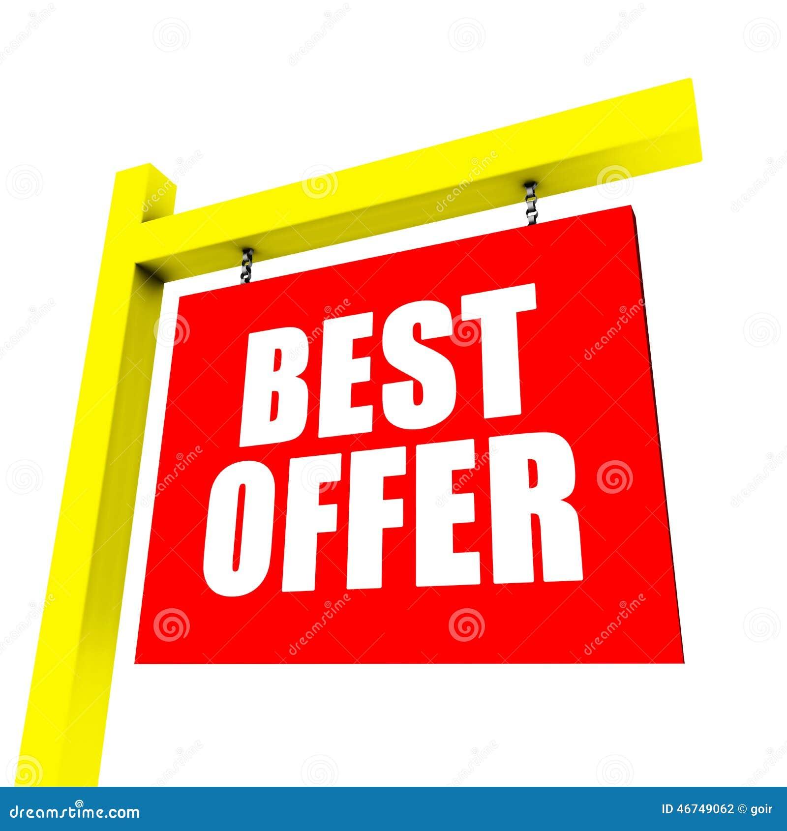 Best offer banner