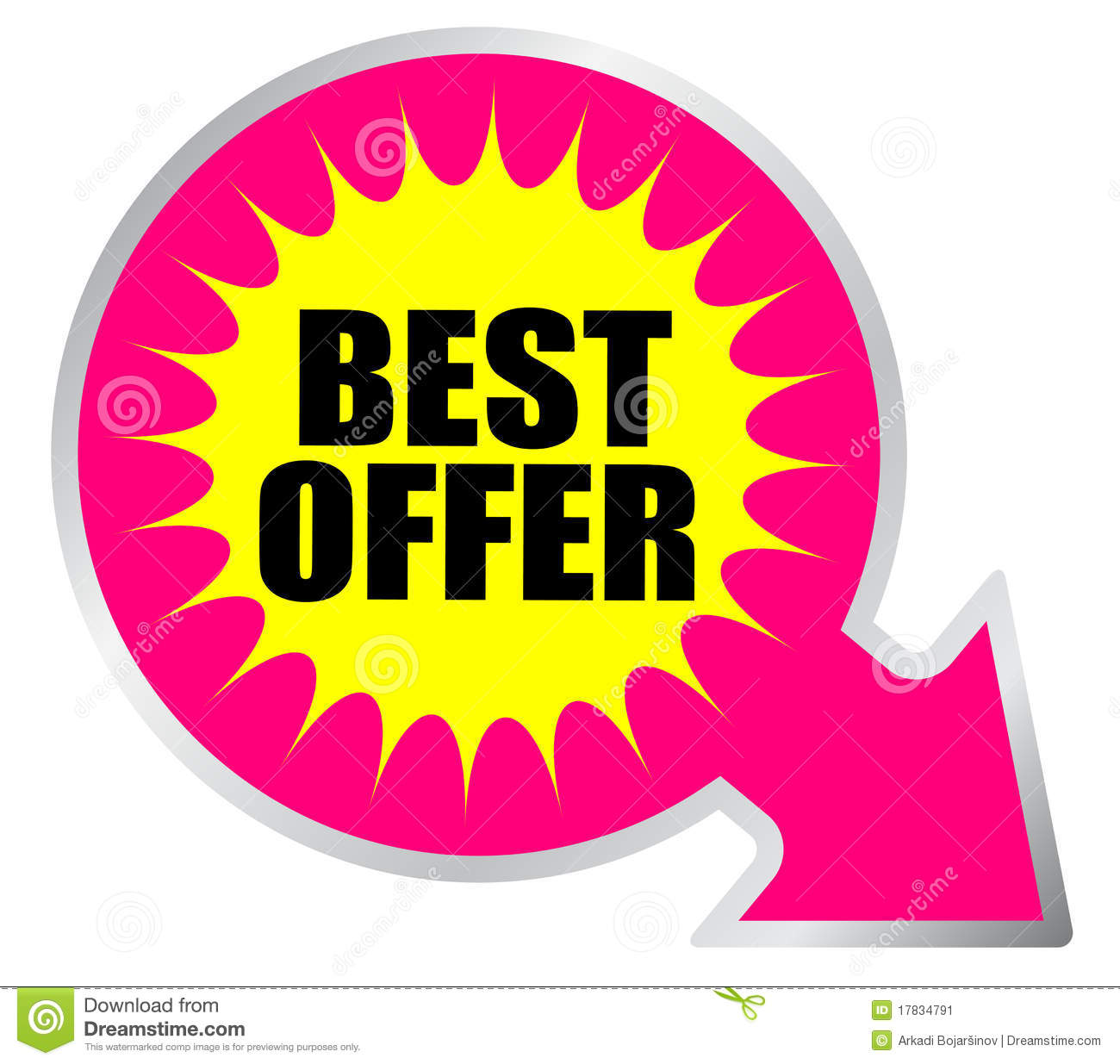 Best Offer Icon Stock Image - Image: 17834791