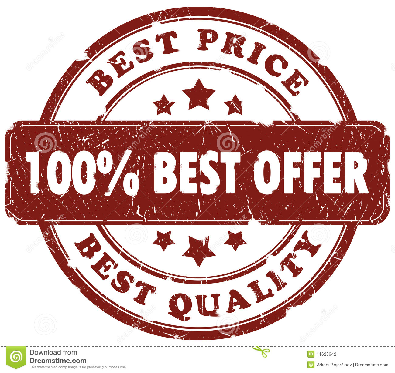 Offer: Best Offer Stamp Stock Photography