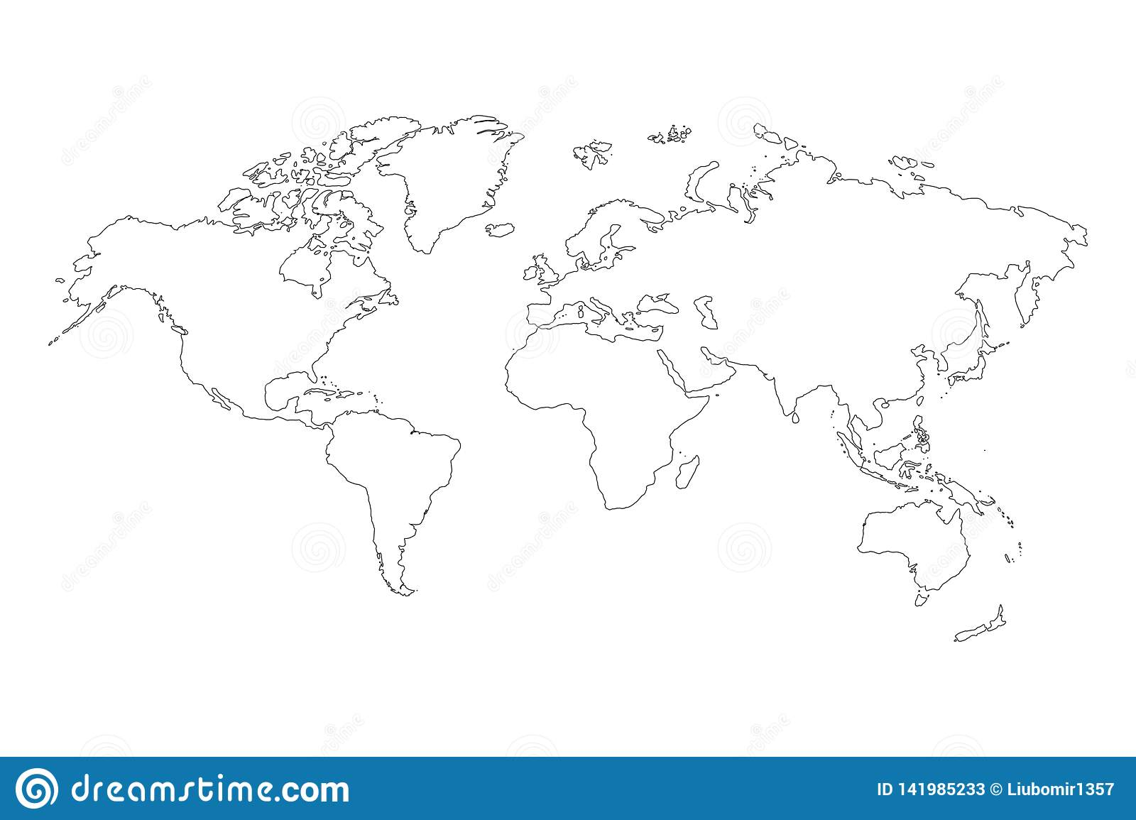 Map Of Asia Europe.Best Popular World Map Outline Graphic Sketch Style Background