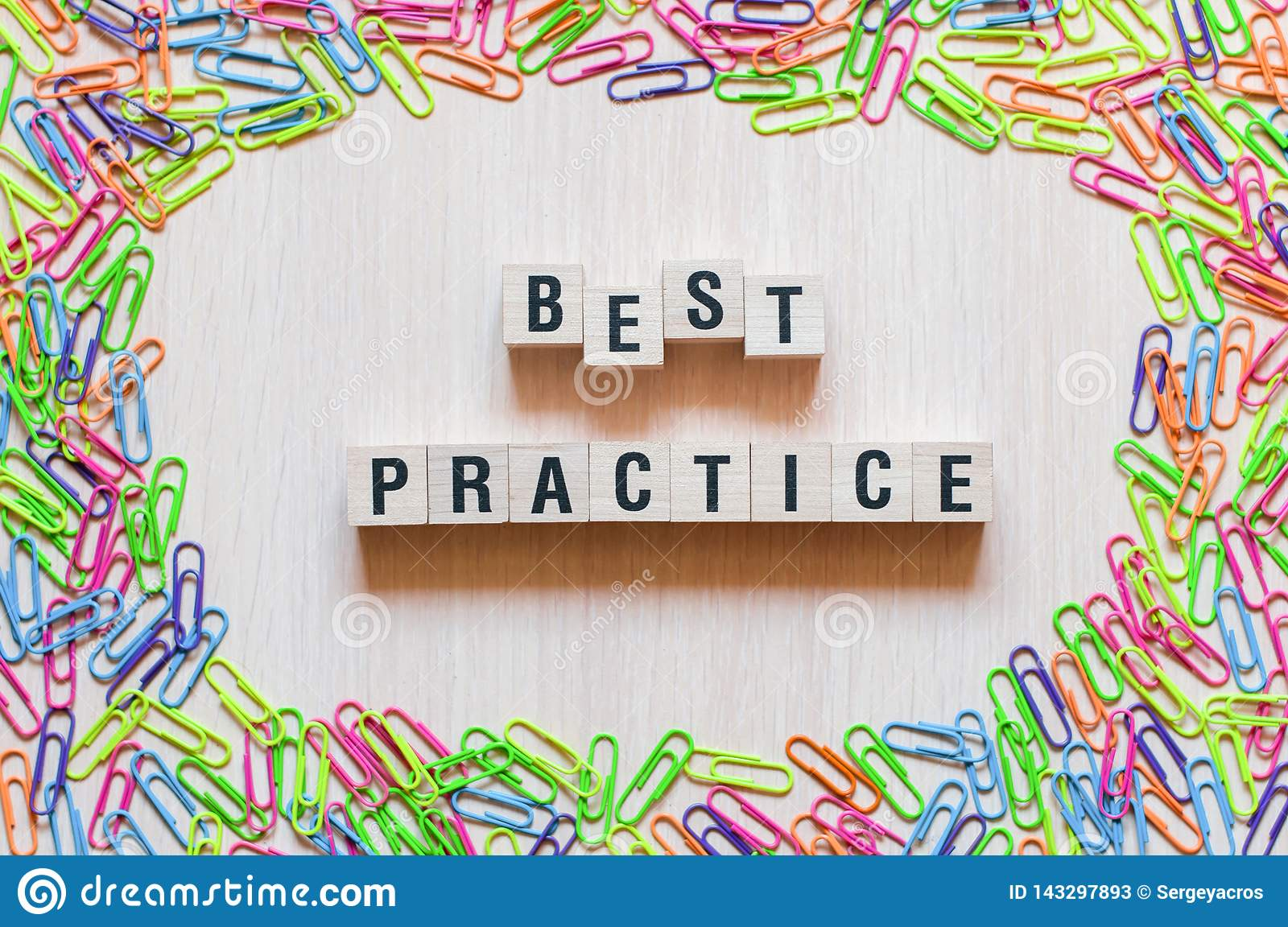 Best Practice words concept