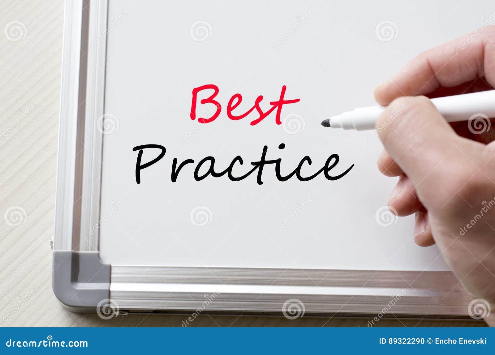 Best practice written on whiteboard