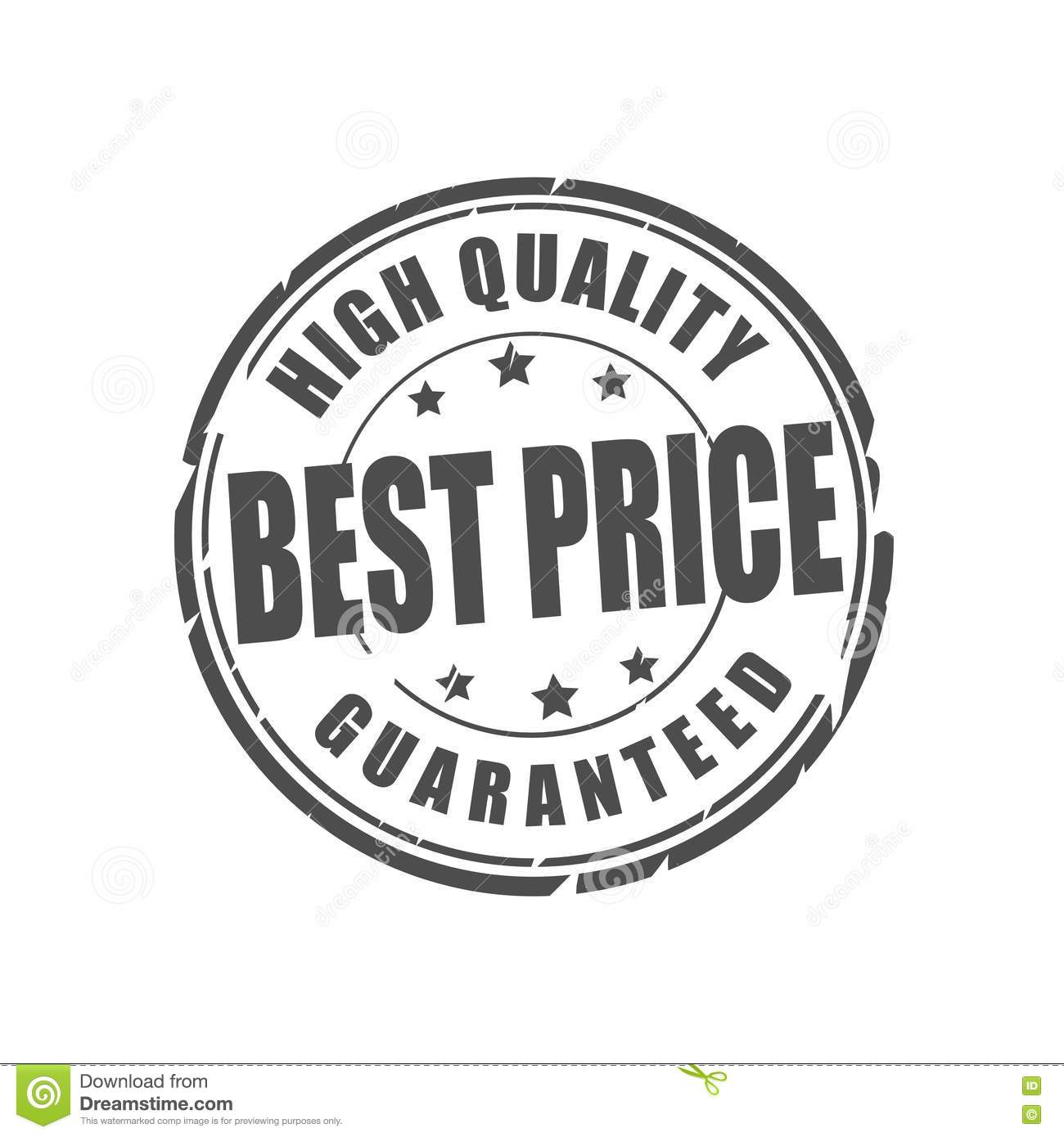 The Cheapest Price Of High: Best Price Or High Quality Vector Stamp Stock Illustration